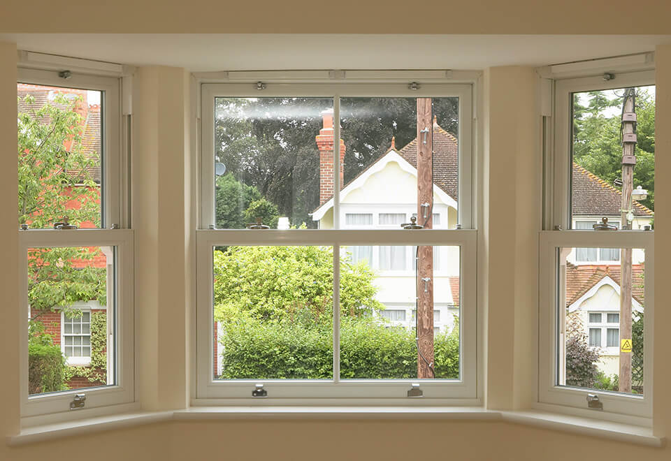 Bay uPVC sliding sash windows
