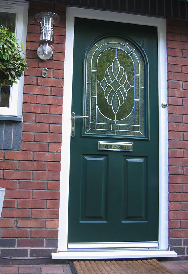 Dark green composite front door