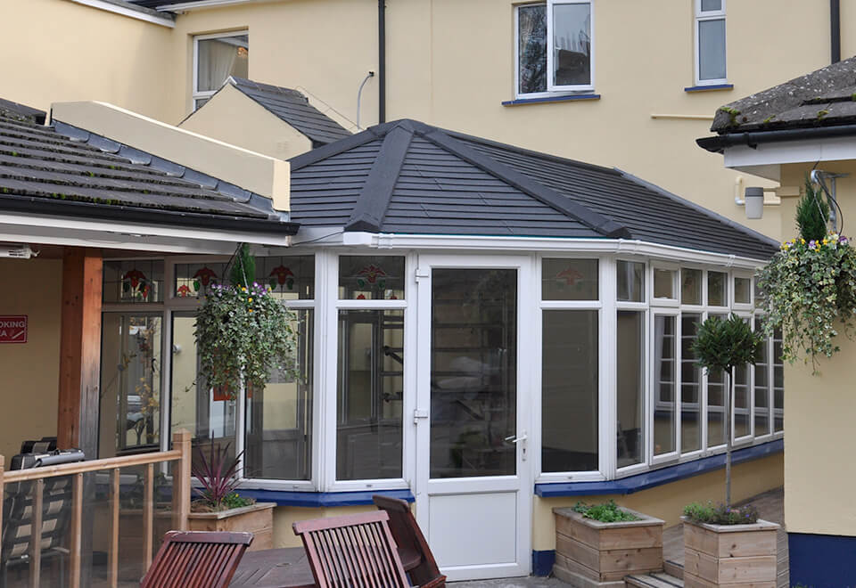 Frey tiled conservatory roof