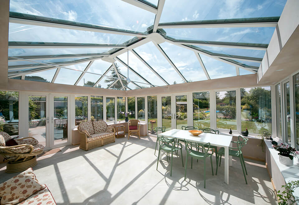 Large uPVC conservatory interior view