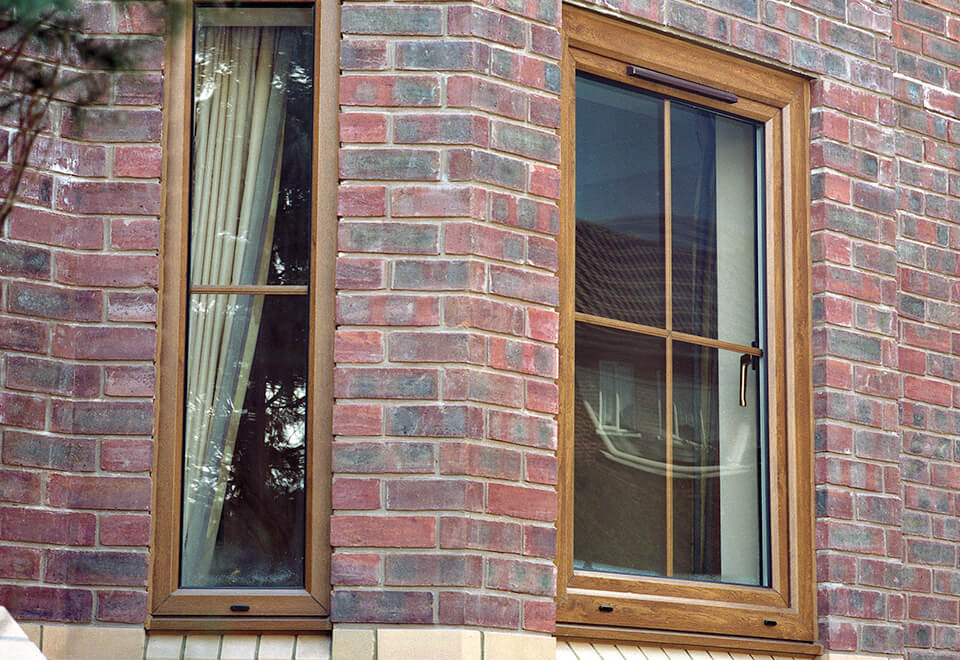 Oak effect uPVC tilt and turn window