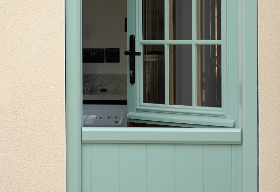 An open chartwell green stable door