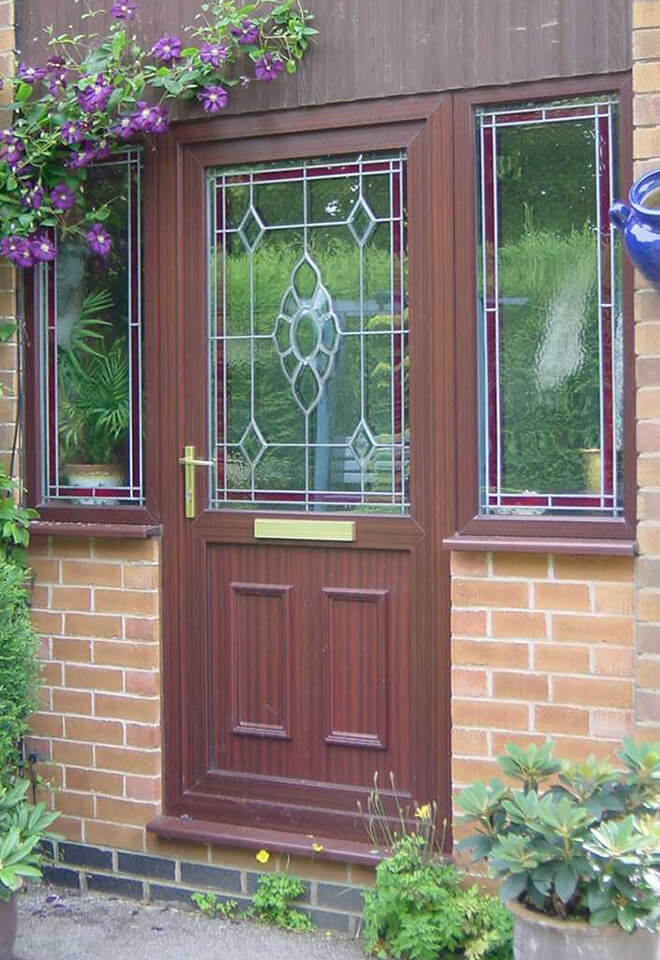 Rosewood uPVC entrance door installation