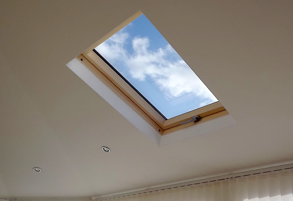 Skylight interior view