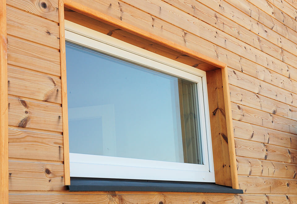 Large white uPVC tilt and turn window